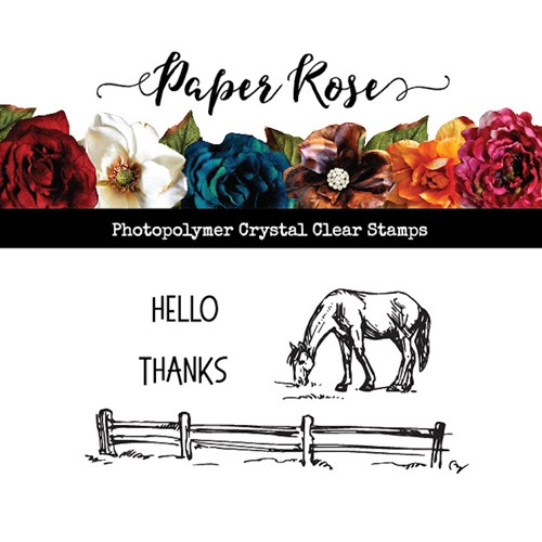 Paper Rose HORSE IN FIELD Clear Stamp 23518 Preview Image