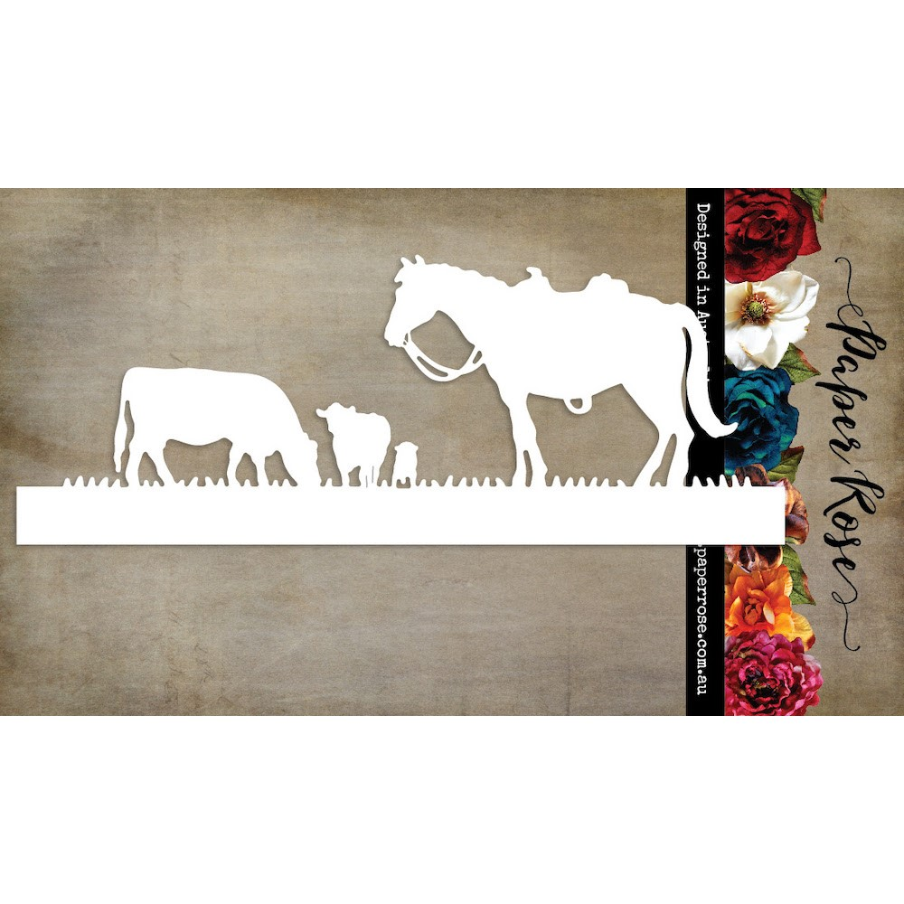 Paper Rose HORSE AND COWS Dies 23581 zoom image