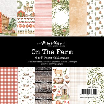 Paper Rose ON THE FARM 6x6 Paper Pack 23548