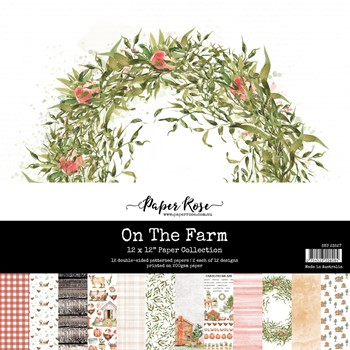 Paper Rose ON THE FARM 12x12 Paper Pack 23527
