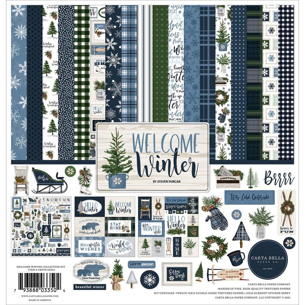 Carta Bella WELCOME WINTER 12 x 12 Collection Kit cbww142016 zoom image
