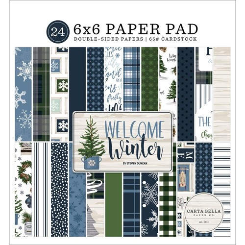 Carta Bella WELCOME WINTER 6 x 6 Paper Pad cbww142023 Preview Image