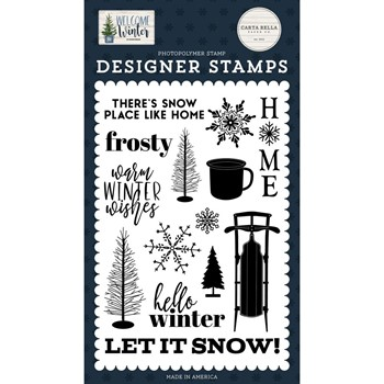 Carta Bella SNOW PLACE LIKE HOME Clear Stamps cbww142040