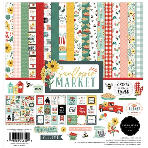 Carta Bella SUNFLOWER MARKET 12 x 12 Collection Kit cbsun144016 Preview Image