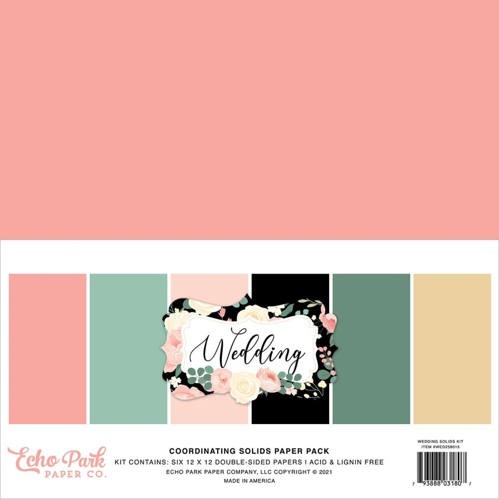 Echo Park WEDDING 12 x 12 Solids Paper Pack wed258015 zoom image