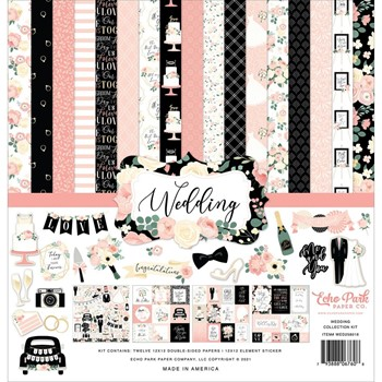 Echo Park WEDDING 12 x 12 Collection Kit wed258016