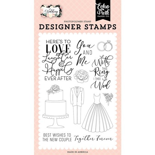 Echo Park HERE'S TO LOVE Clear Stamps wed258045 Preview Image