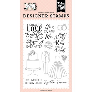 Echo Park HERE'S TO LOVE Clear Stamps wed258045