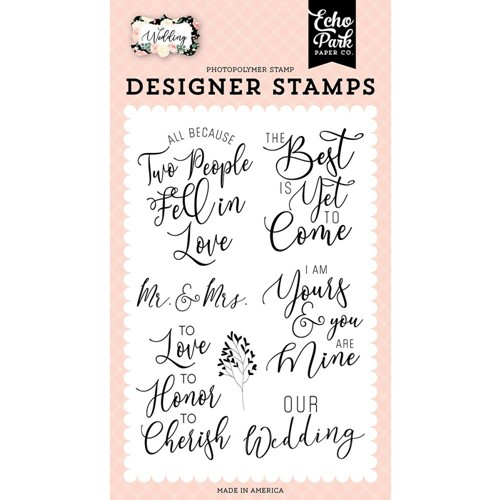 Echo Park OUR WEDDING Clear Stamps wed258046 Preview Image