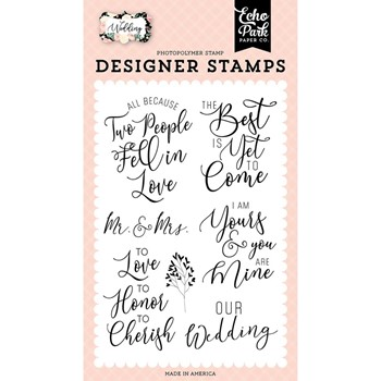 Echo Park OUR WEDDING Clear Stamps wed258046