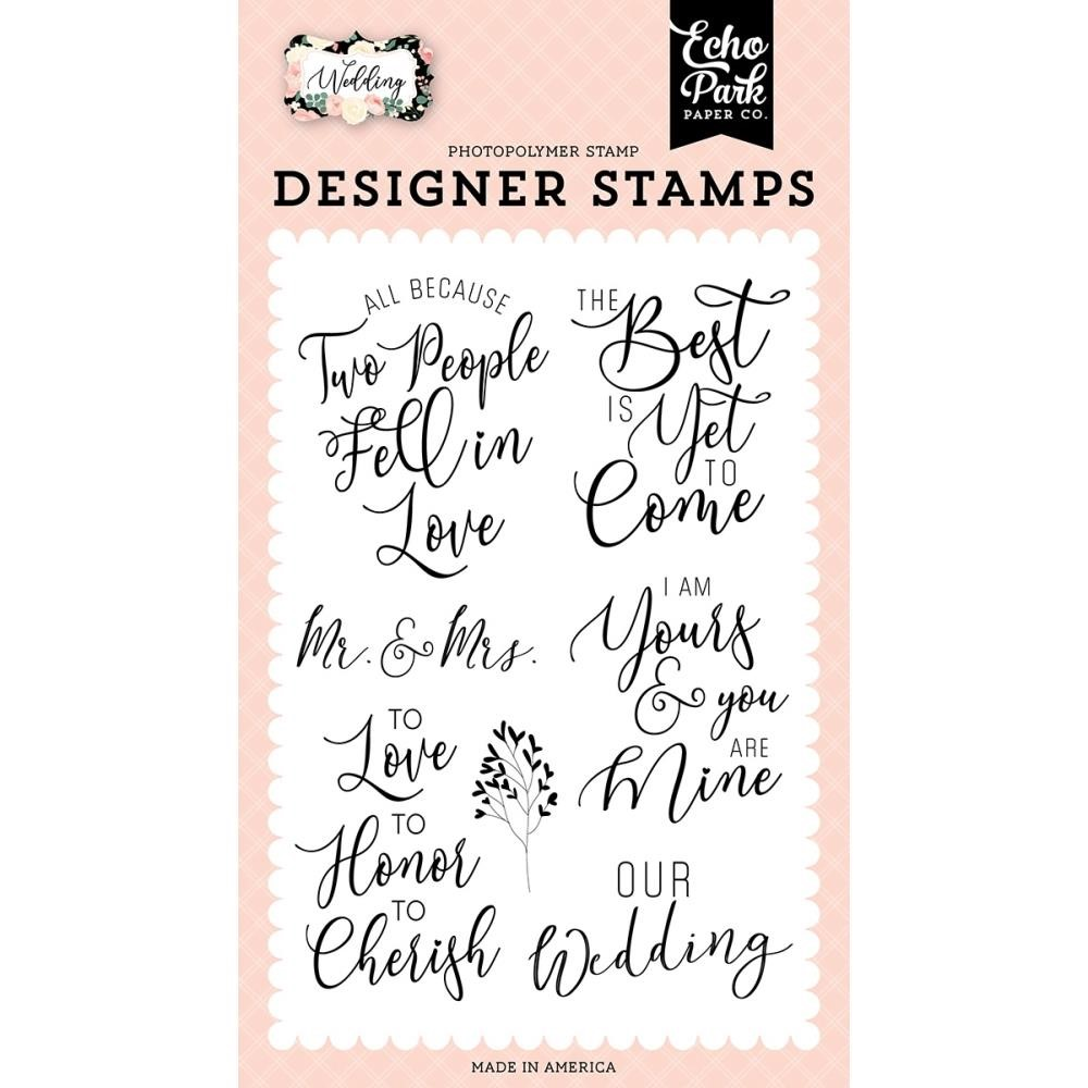 Echo Park OUR WEDDING Clear Stamps wed258046 zoom image