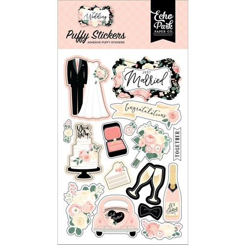 Echo Park WEDDING Puffy Stickers wed258066 Preview Image