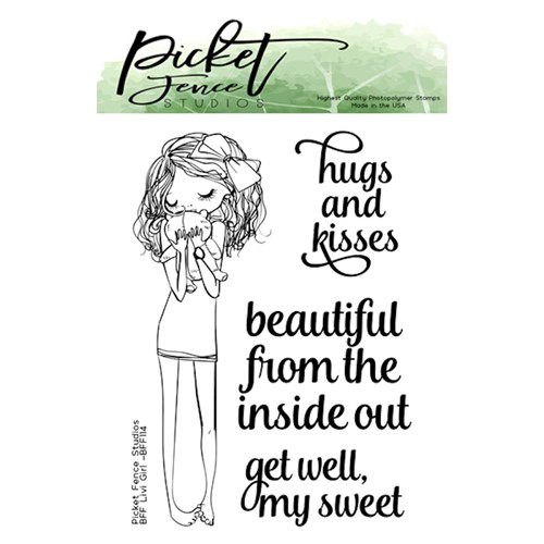 Picket Fence Studios BFF LIVI GIRL Clear Stamps bff114 Preview Image