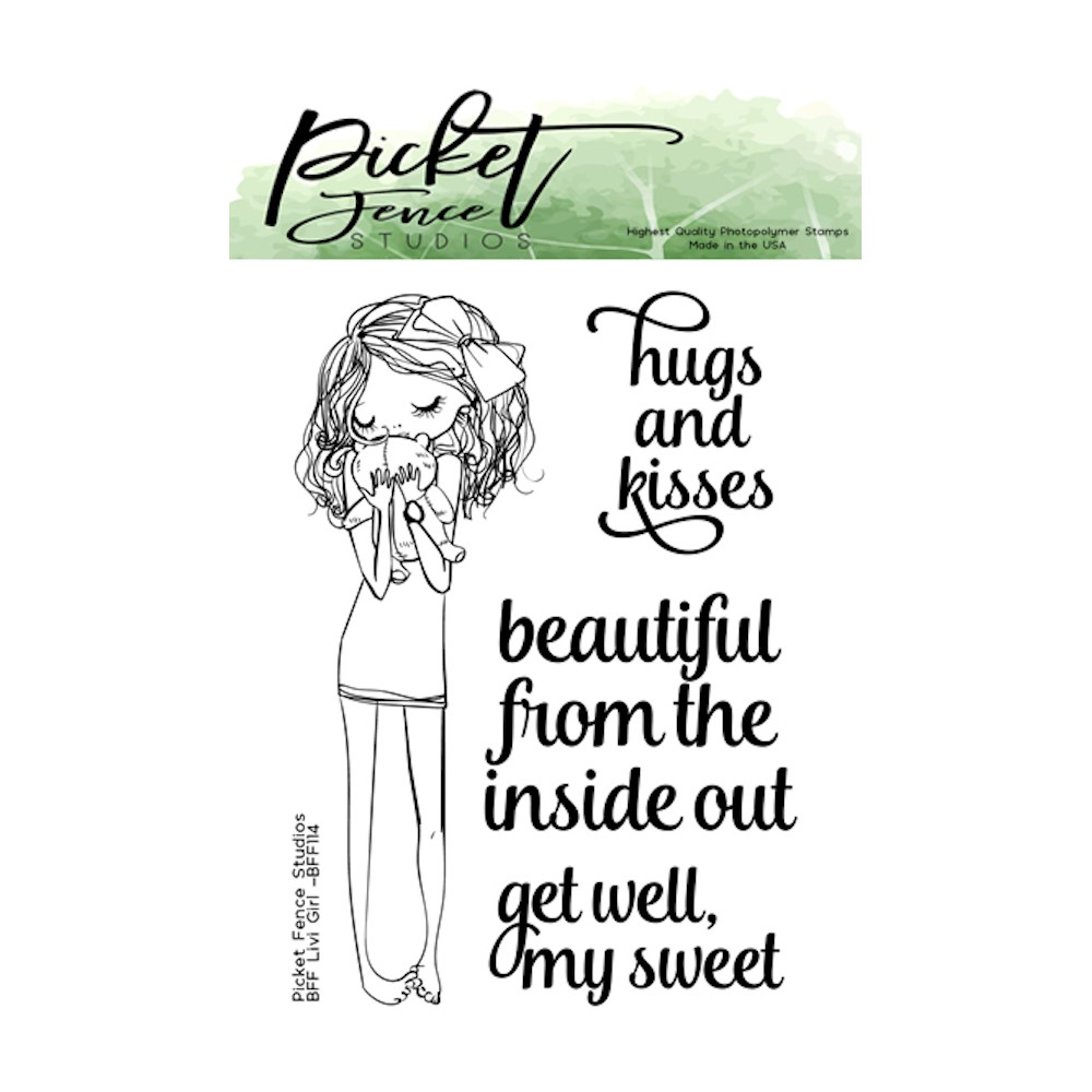 Picket Fence Studios BFF LIVI GIRL Clear Stamps bff114 zoom image