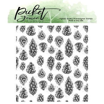 Picket Fence Studios FALLING PINECONES Clear Stamp f156