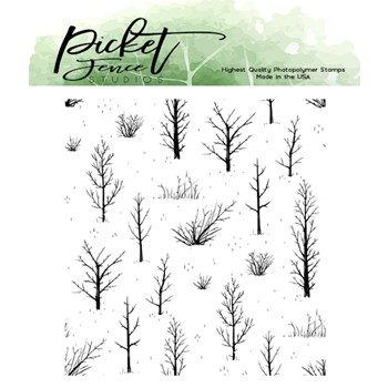 Picket Fence Studios AUTUMN FIELD Clear Stamp bb170