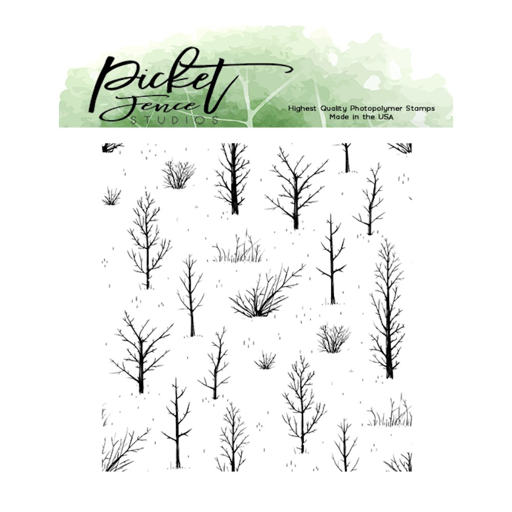 Picket Fence Studios AUTUMN FIELD Clear Stamp bb170 zoom image
