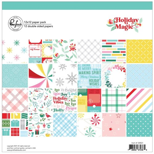 Pinkfresh Studio HOLIDAY MAGIC 12 x 12 Paper Pack 128821 Preview Image