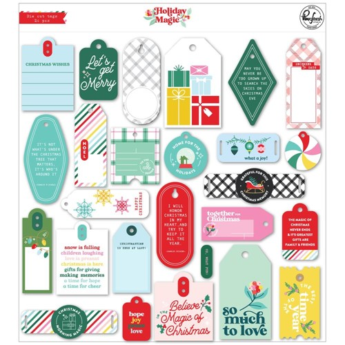 PinkFresh Studio HOLIDAY MAGIC Die Cut Tags 130621 Preview Image