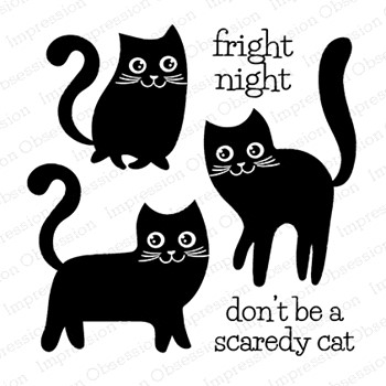 Impression Obsession Clear Stamp CAT TRIO CS1085