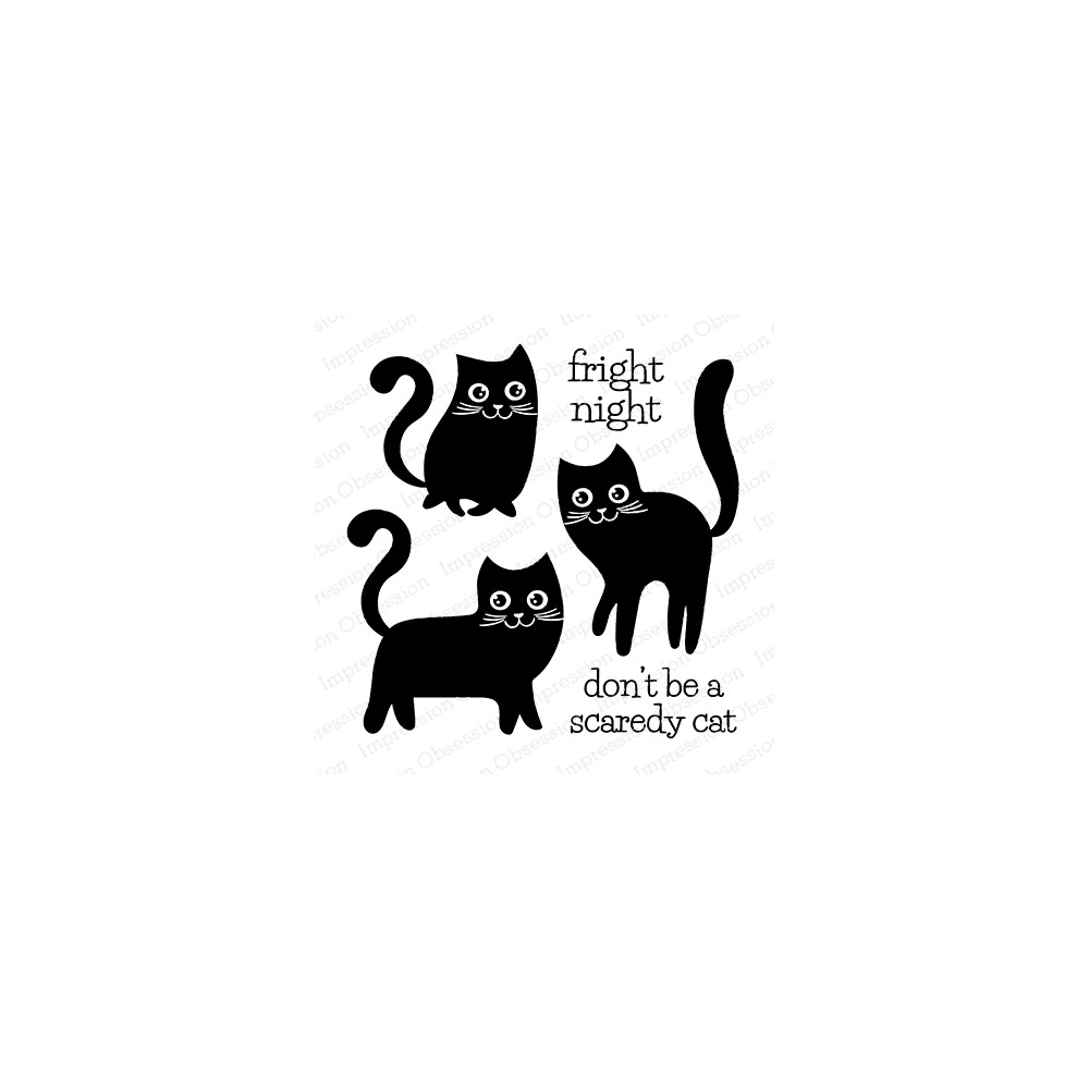 Impression Obsession Clear Stamp CAT TRIO CS1085 zoom image