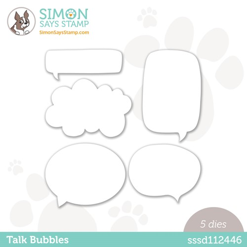 Simon Says Stamp TALK BUBBLES Wafer Dies sssd112446 Preview Image