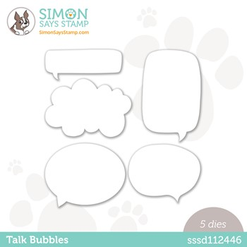 Simon Says Stamp TALK BUBBLES Wafer Dies sssd112446