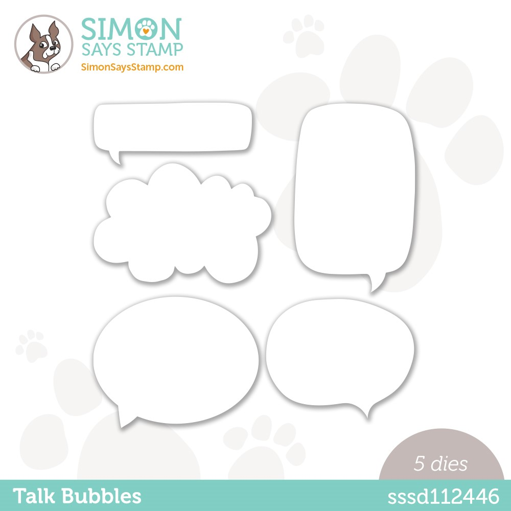 Simon Says Stamp TALK BUBBLES Wafer Dies sssd112446 zoom image