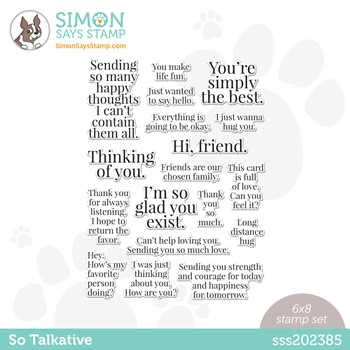 Simon Says Clear Stamps SO TALKATIVE sss202385