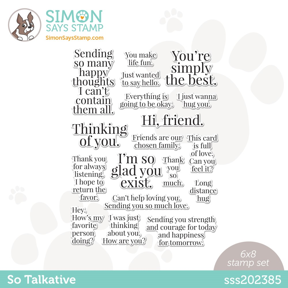 Simon Says Clear Stamps SO TALKATIVE sss202385 zoom image