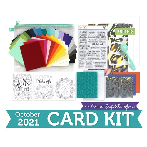 Simon Says Stamp Card Kit of the Month October 2021 SO TALKATIVE ck1021 Preview Image