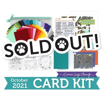 Simon Says Stamp Card Kit of the Month October 2021 SO TALKATIVE ck1021