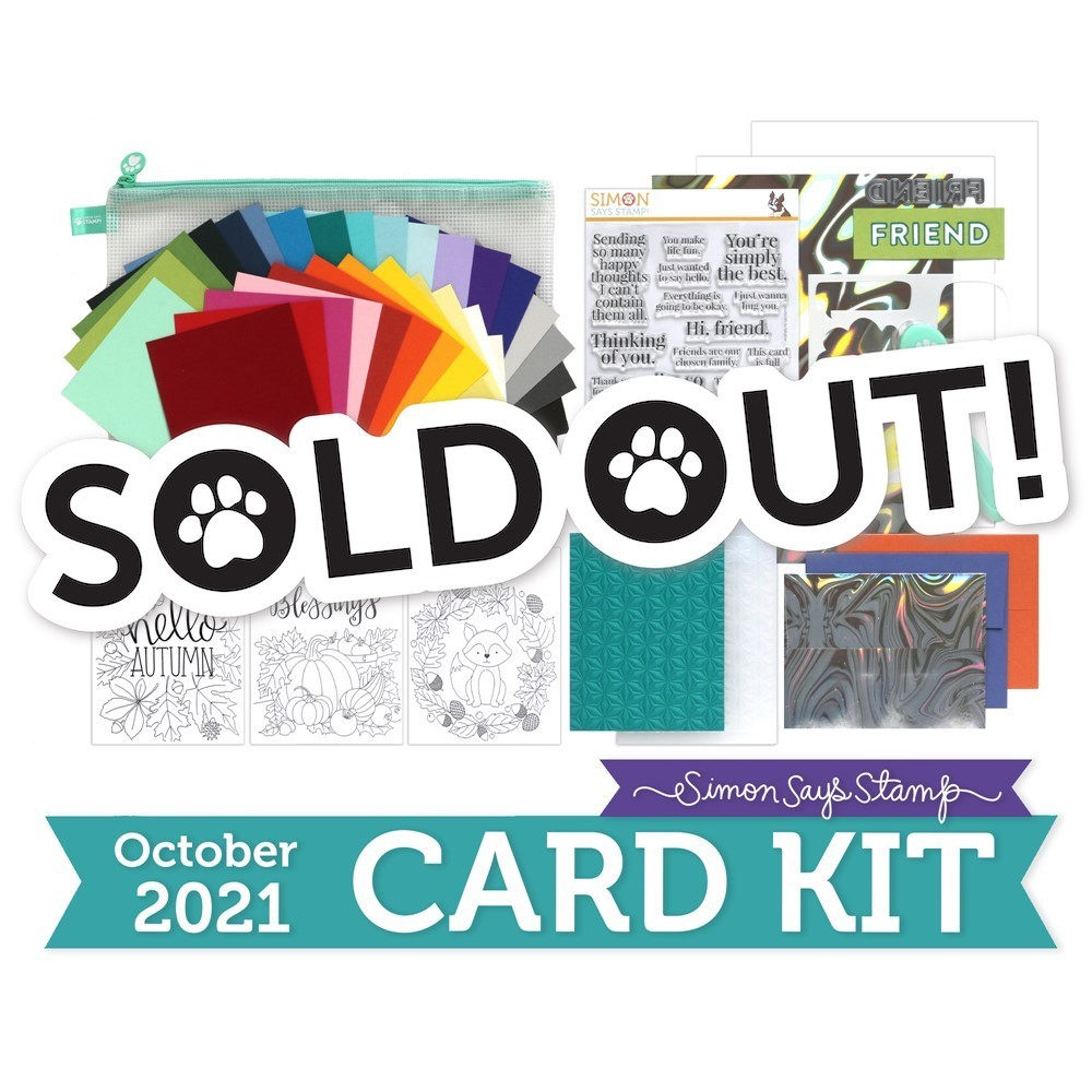 Simon Says Stamp Card Kit of the Month October 2021 SO TALKATIVE ck1021 zoom image