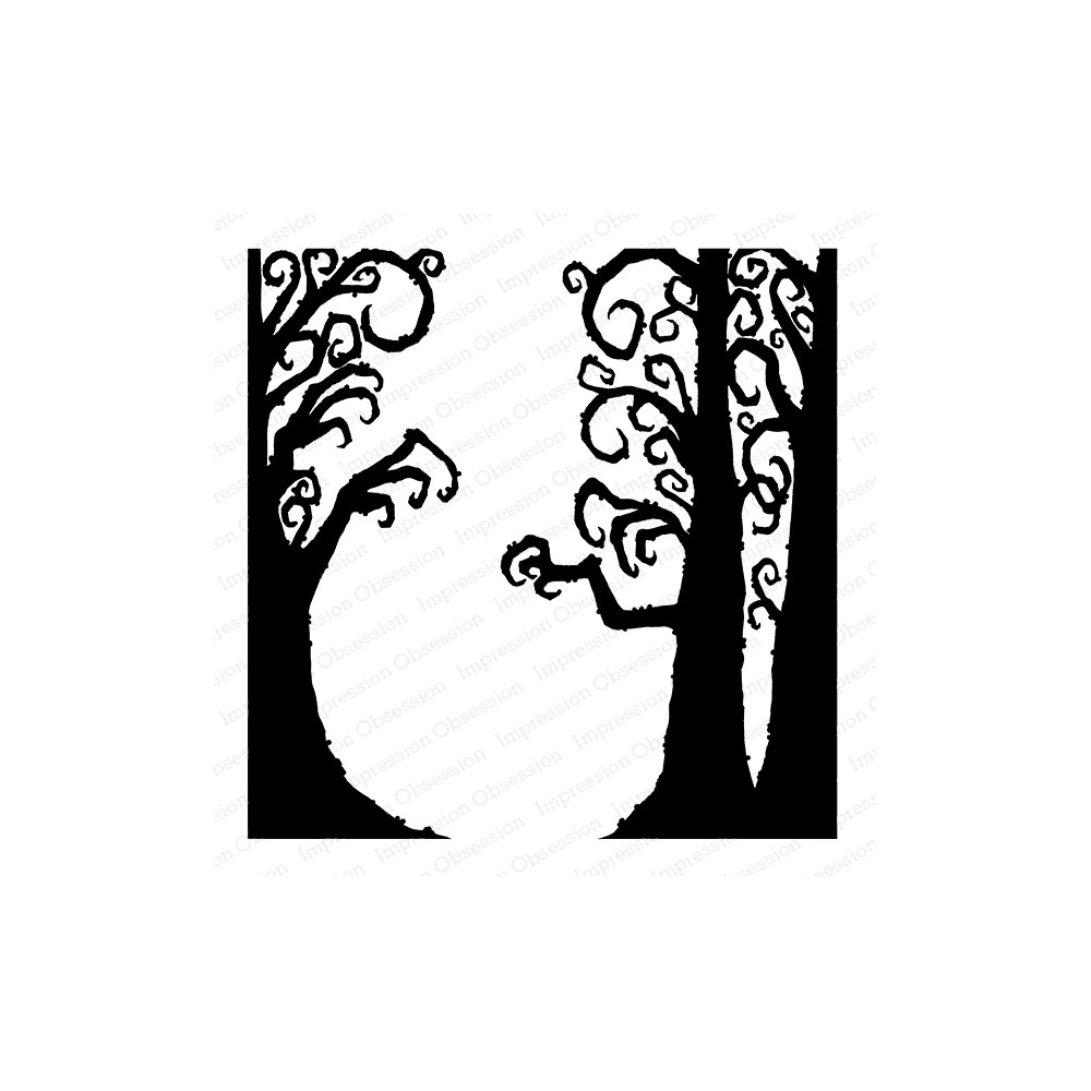 Impression Obsession Cling Stamp CREEPY TREES Create A Card CC420 zoom image