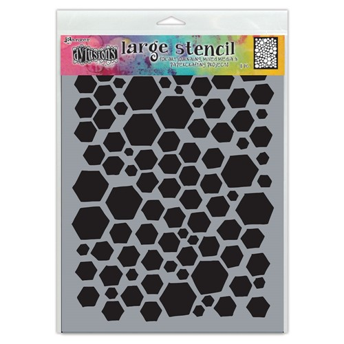 Dyan Reaveley Stencil 9 x 12 BEHAVE Dylusions Ranger dys77985 Preview Image