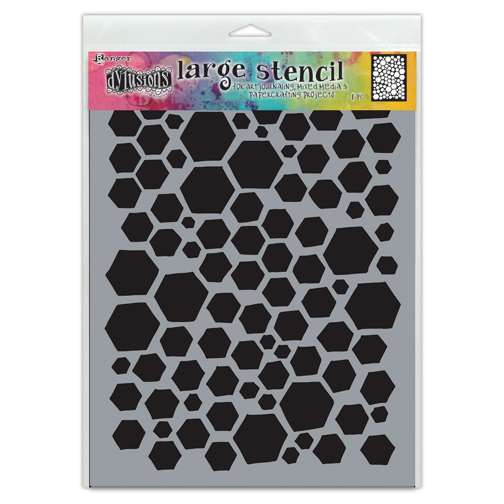 Dyan Reaveley Stencil 9 x 12 BEHAVE Dylusions Ranger dys77985 zoom image