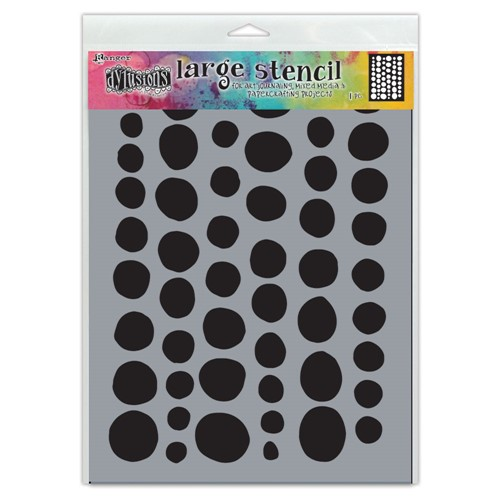 Dyan Reaveley Stencil 9 x 12 COINS Dylusions Ranger dys78012 Preview Image