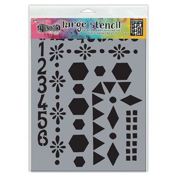 Dyan Reaveley Stencil 9 x 12 NUMBER FRAME Dylusions Ranger dys78036