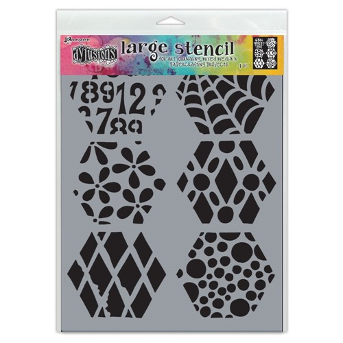 Dyan Reaveley Stencil 9 x 12 QUILT N MORE Dylusions Ranger dys78043 Preview Image