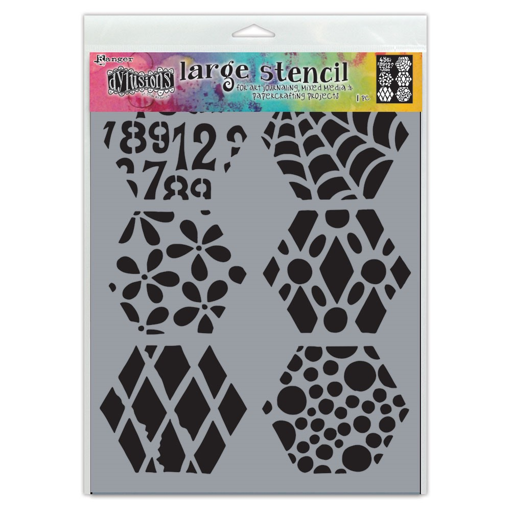 Dyan Reaveley Stencil 9 x 12 QUILT N MORE Dylusions Ranger dys78043 zoom image