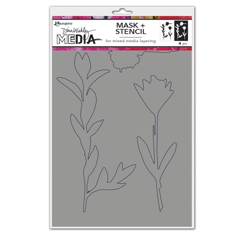 Dina Wakley GROWING MASK Media Stencil Ranger mds77671 Preview Image