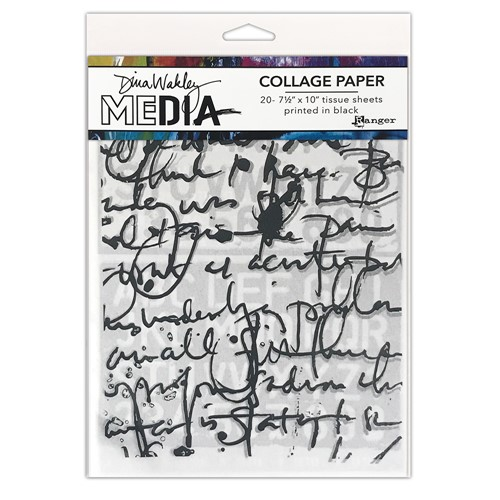Ranger Dina Wakley Media TEXT Collage Paper mda77886 Preview Image
