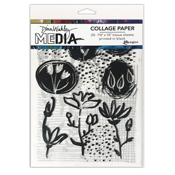 Ranger Dina Wakley Media THINGS THAT GROW Collage Paper mda77893