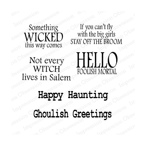 Impression Obsession Clear Stamp WITCH SAYINGS CS1081 Preview Image