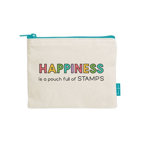 Lawn Fawn HAPPINESS IS A POUCH FULL OF STAMPS Zipper Pouch lf2720 Preview Image