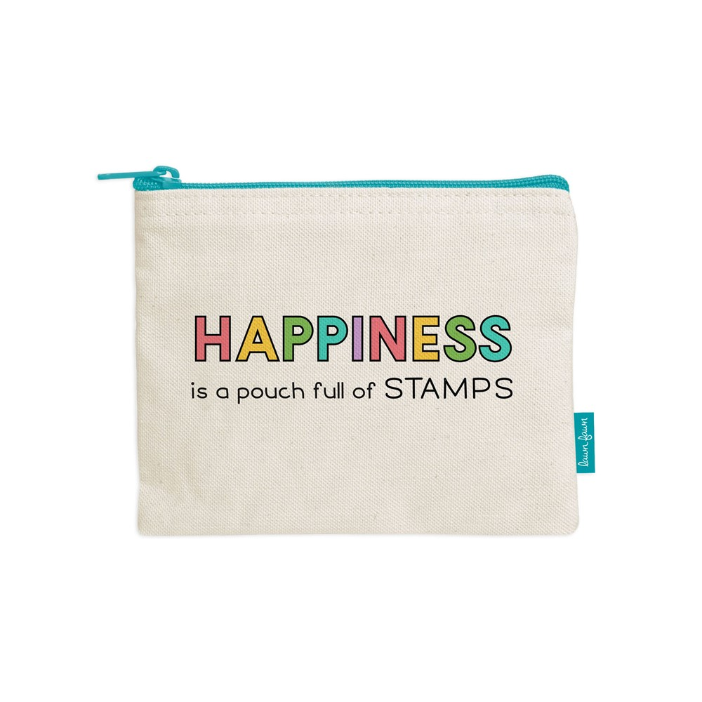 Lawn Fawn HAPPINESS IS A POUCH FULL OF STAMPS Zipper Pouch lf2720 zoom image