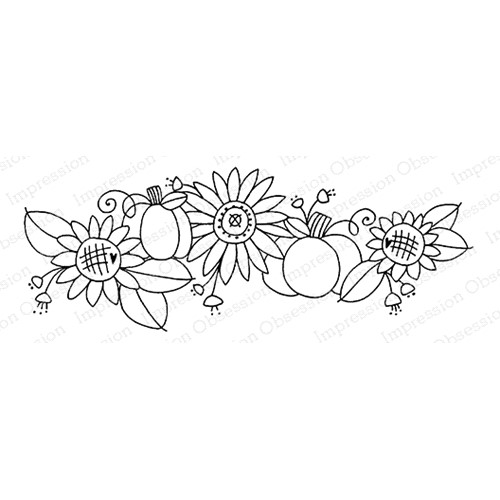 Impression Obsession Cling Stamp SWEET SUNFLOWERS G12370 Preview Image