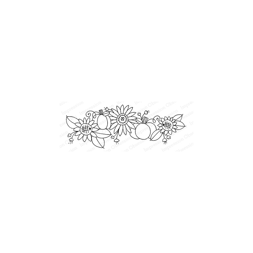 Impression Obsession Cling Stamp SWEET SUNFLOWERS G12370 zoom image