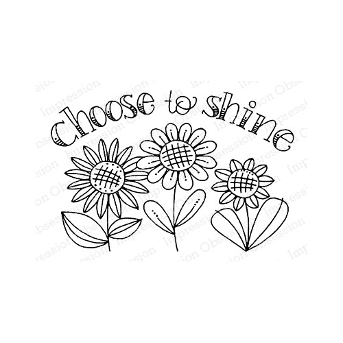 Impression Obsession Cling Stamp CHOOSE TO SHINE F12373 Preview Image