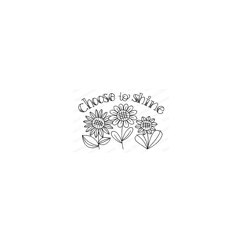 Impression Obsession Cling Stamp CHOOSE TO SHINE F12373 zoom image